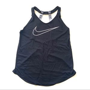 Nike Strappy Graphic Black Athletic Tank Top S